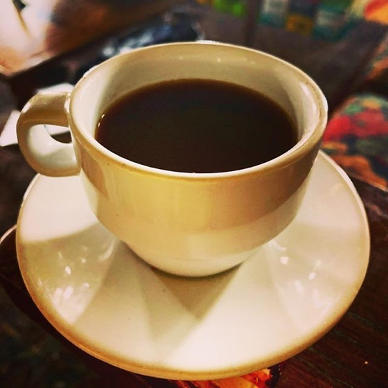 Nice, hot, cup of corona-killer coffee ☕️ via Instagram