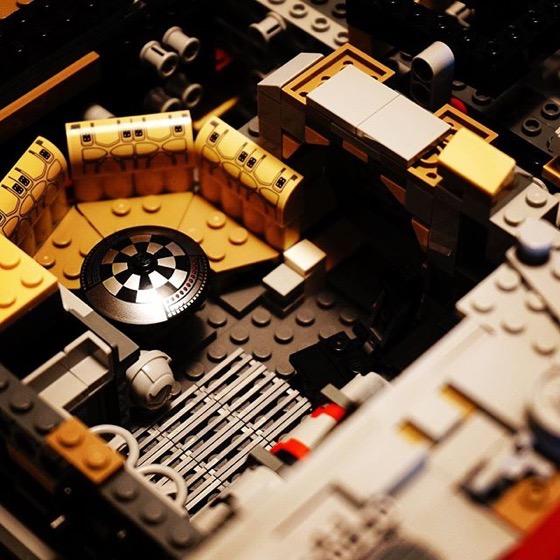 LEGO Millenium Falcon Detail via Instagram