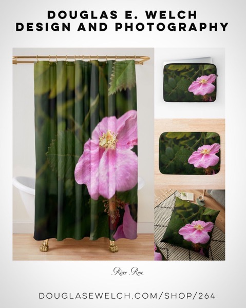 River Rose Shower Curtains, Pillows, and More From Douglas E. Welch Design and Photography [For Sale]