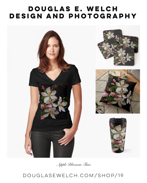 Celebrate The Seasons With these Apple Blossom Pillows,Tees, Cases, and More From Douglas E. Welch Design and Photography [For Sale]