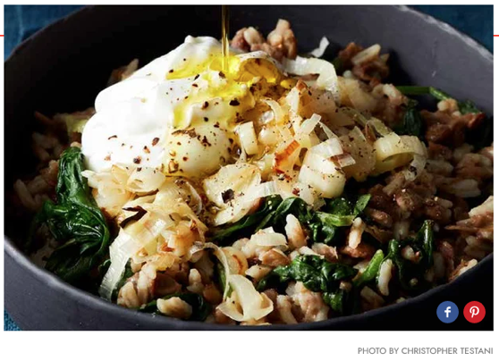 Instant Pot Middle Eastern Lentils With Rice, Leeks, and Spinach recipe via Epicurious [Food]