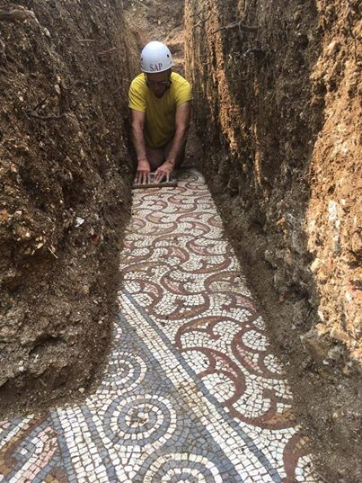 Home School: Archeologists Unearth Ancient Roman Mosaic Under a Vineyard via My Modern Met