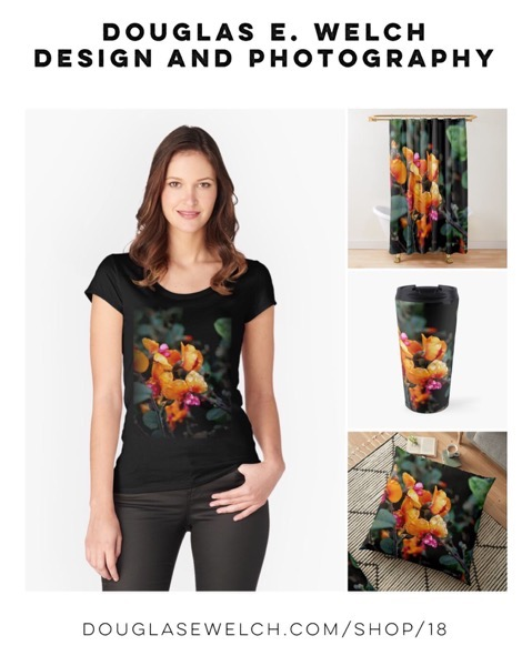 """Bask In The Glow Of These """"Chorizema 'Bush Flame'"""" Tees,  Tops, Pillows, and more! [For Sale]"""
