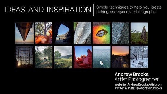 Home School: Photography Ideas & Inspiration -Simple techniques to help you create striking & dynamic photographs via Andrew Brooks On YouTube [Video]