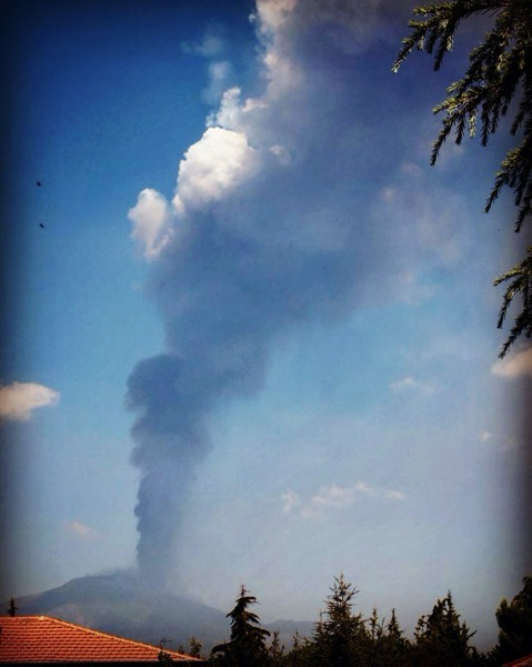 Etna Erupts, August 12, 2011 via Instagram