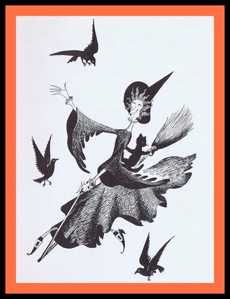 Halloween 2020 – First in a series – Famous Cat Merlin with Witch (1950)
