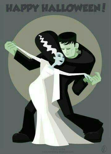 Halloween 2020 – 24 in a series – The Creature and His Bride Dance The Night Away