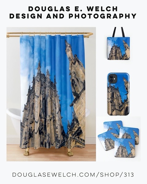 New Design: York Minster Towers on Totes, Shower Curtains, and More from Douglas E. Welch Design and Photography [For Sale]
