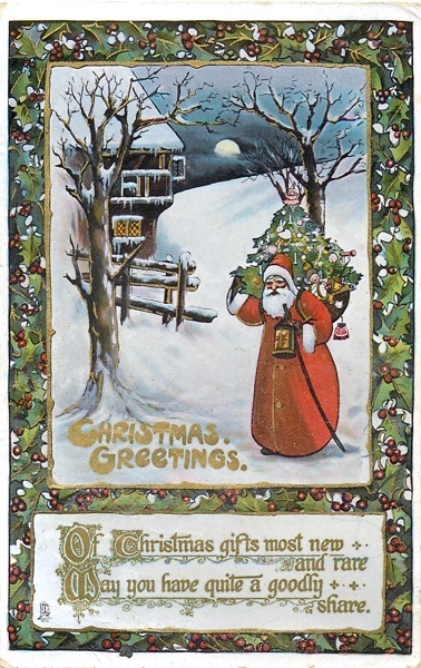 Order Now! Vintage Santa Claus Postcard Christmas Cards from Douglas E. Welch Design and Photography [For Sale]