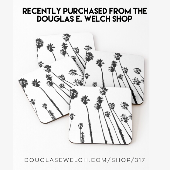 Recently Purchased: Palm Tree Silhouette Coasters and Much More from the Douglas E. Welch Design and Photo Shop [For Sale]