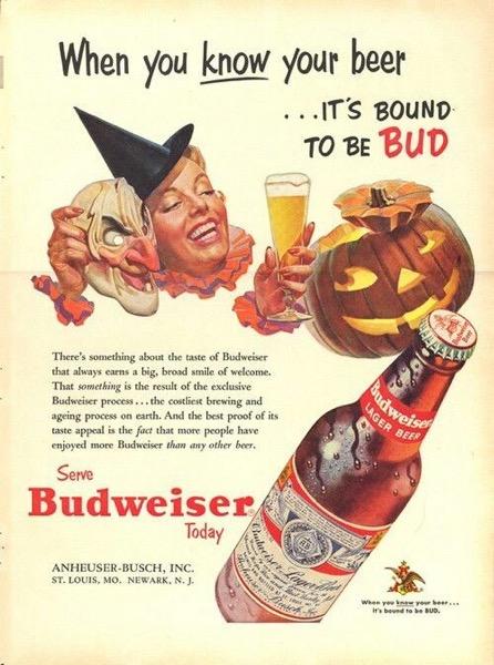 Halloween 2020 – 47 in a series – Budweiser Halloween Ad