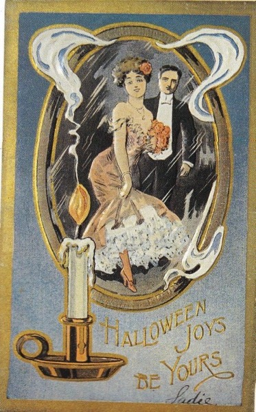 "Halloween 2020 – 49 in a series – Vintage ""Halloween Joys Be Yours"" Card"