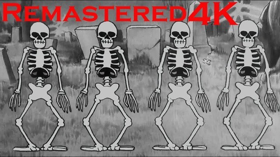 "Halloween 2020 – 53 in a series – Disney Cartoons ""Skeleton Dance"" 4K Remaster  via Boing Boing"