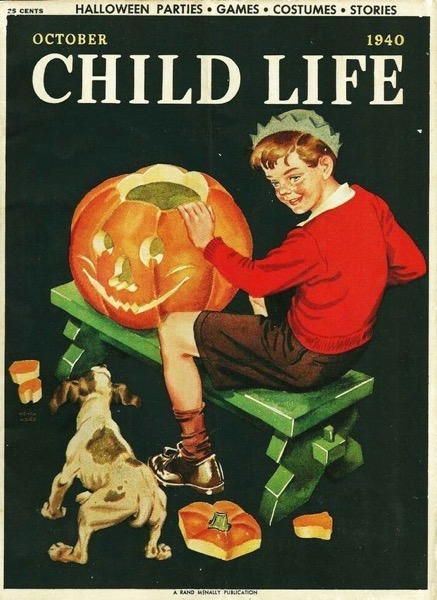 Halloween 2020 – 54 in a series – Jack-o-Lantern Carving from Child's Life Magazine (1940)