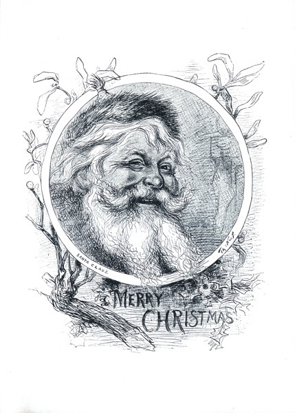 Order Now! Vintage Santa Etching by Thomas Nast Christmas Cards from Douglas E. Welch Design and Photography [For Sale]