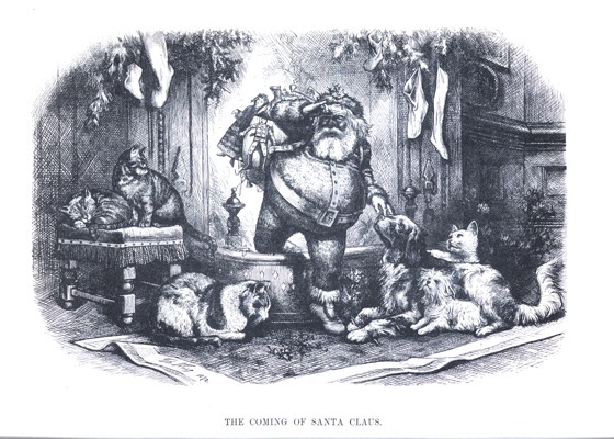 "Order Now! Vintage Christmas Etching ""The Coming of Santa Claus"" by Thomas Nast Christmas Cards from Douglas E. Welch Design and Photography [For Sale]"
