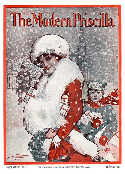 Order Now! Vintage The Modern Priscilla Christmas Magazine Cover (1910)  Christmas Cards from Douglas E. Welch Design and Photography [For Sale]