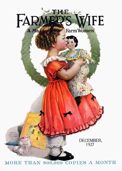 Order Now! Vintage Christmas Farmer's Wife Magazine Cover (1927) Christmas Cards from Douglas E. Welch Design and Photography [For Sale]