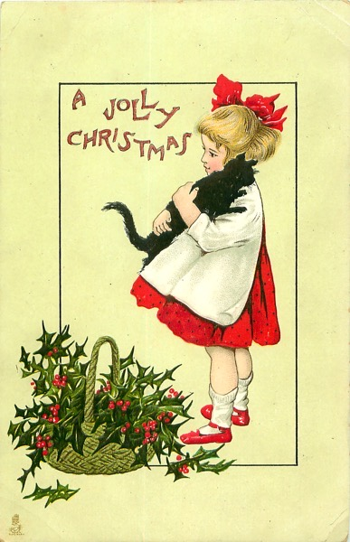 "Order Now! Vintage ""A Jolly Christmas"" Postcard Christmas Cards from Douglas E. Welch Design and Photography [For Sale]"