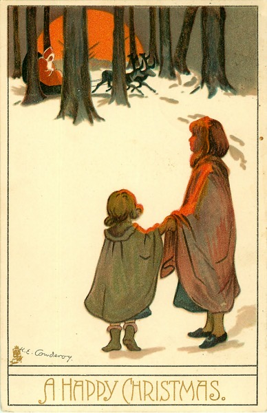 "Order Now! Vintage ""A Happy Christmas"" Postcard (1907) Christmas Cards from Douglas E. Welch Design and Photography [For Sale]"