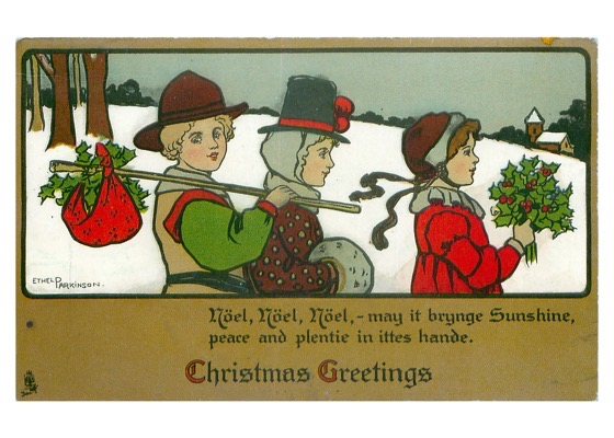 "Order Now! Vintage ""Christmas Greetings"" Postcard (1904) Christmas Cards from Douglas E. Welch Design and Photography [For Sale]"