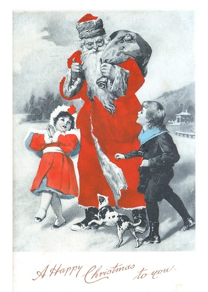 "Order Now! Vintage ""A Happy Christmas To You"" Postcard (1904) Christmas Cards from Douglas E. Welch Design and Photography [For Sale]"
