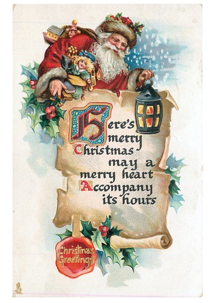 Order Now! Vintage Santa Claus Postcard (1912) Christmas Cards from Douglas E. Welch Design and Photography [For Sale]