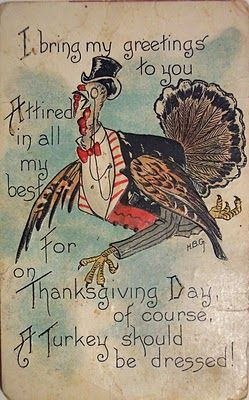 "Thanksgiving 2020 – 9 in a series – ""…a turkey should be dressed."""