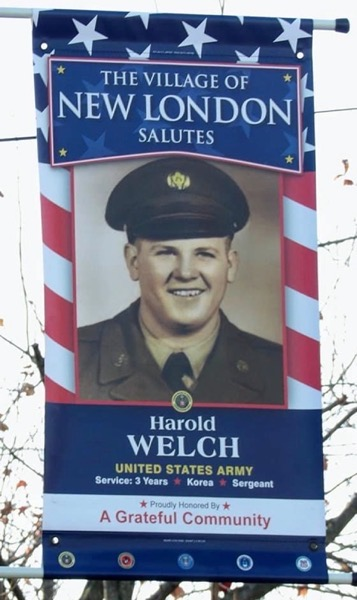 Veterans Day: A hometown banner for my father,  Harold Welch