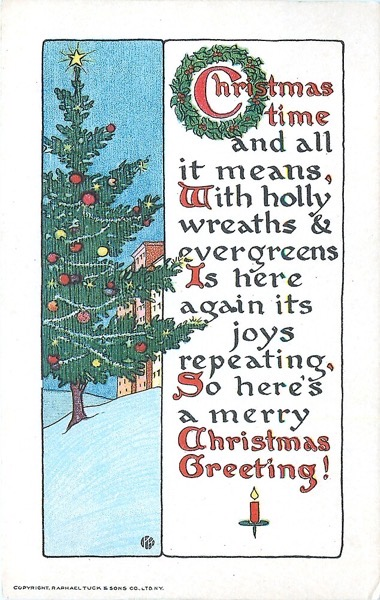 "Order Now! ""Christmas Time and All It Means"" Vintage Christmas Postcard (1916) Christmas Cards from Douglas E. Welch Design and Photography [For Sale]"