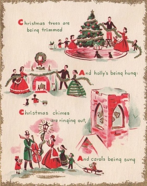 Christmas 2020 – 29 in a series –  Vintage Christmas Card