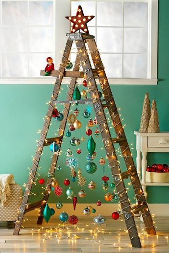 Christmas 2020 – 30 in a series –  Stepladder Christmas Tree
