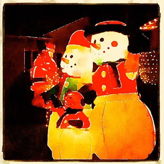 Christmas 2020 – 12 in a series – Snowmen in watercolor