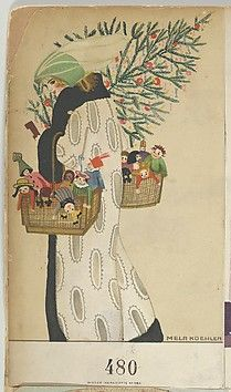 Christmas 2020 – 28 in a series –  1911 Christmas Card from The Met