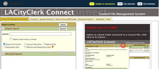 Civics – 6 in a Series – LA City Clerk Connect