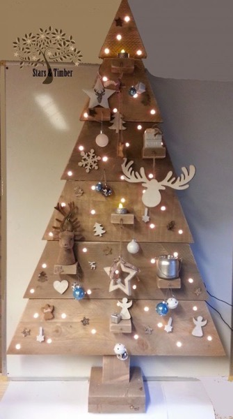 Christmas 2020 – 15 in a series – Wooden Christmas Tree