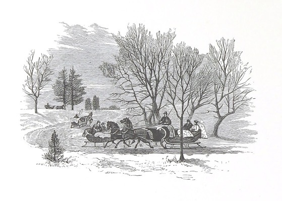 Order Now! Vintage Sleigh Ride Christmas Cards (1890) from Douglas E. Welch Design and Photography [For Sale]