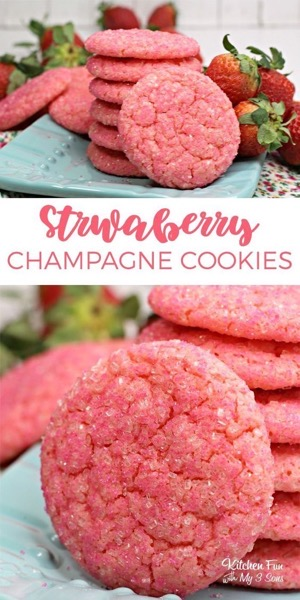 Valentine's 2021 – 8 in a series – Strawberry Champagne Cookies
