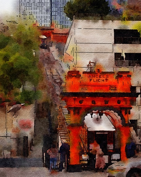 Angels Flight, Downtown Los Angeles, California via Instagram