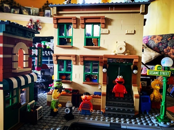 A little Sesame Street Lego Fun via Instagram