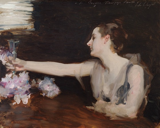 From The Collection Of… 2 in a series – Madame Gautreau Drinking A Toast, 1882-1883, John Singer Sargent, Isabella Stewart Gardner Museum