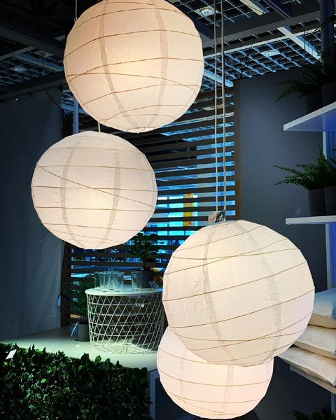 Paper lanterns at Ikea via Instagram