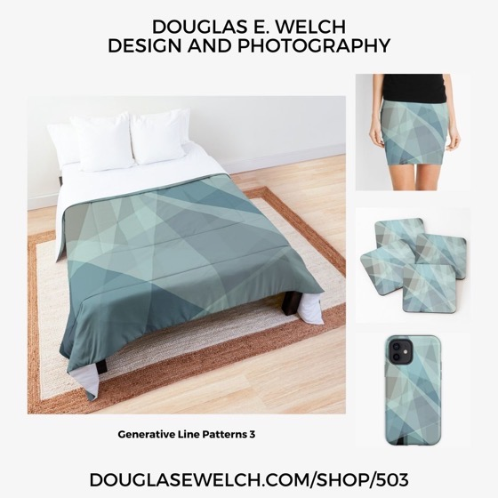 New Design: Generative Line Patterns 3 Products from Douglas E. Welch Design and Photography Shopping & Gifts]