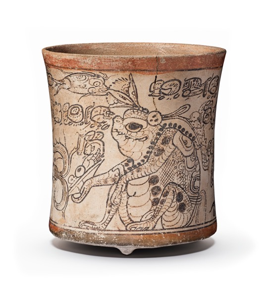From The Collection Of… 3 in a series – Drinking Vessel Depicting Otherworldly Toad, Jaguar, and Serpent (650-800 CE) via LA County Museum of Art