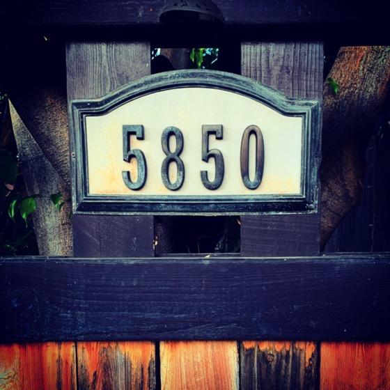 5850 – 2 in a series – Numbers via Instagram