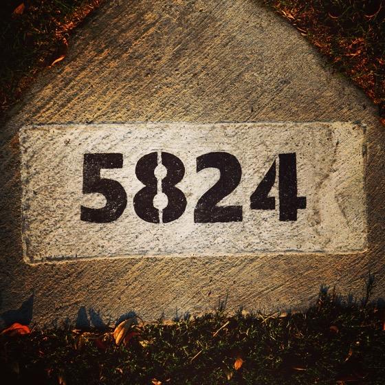 5824 – 6 in a series – Numbers via Instagram